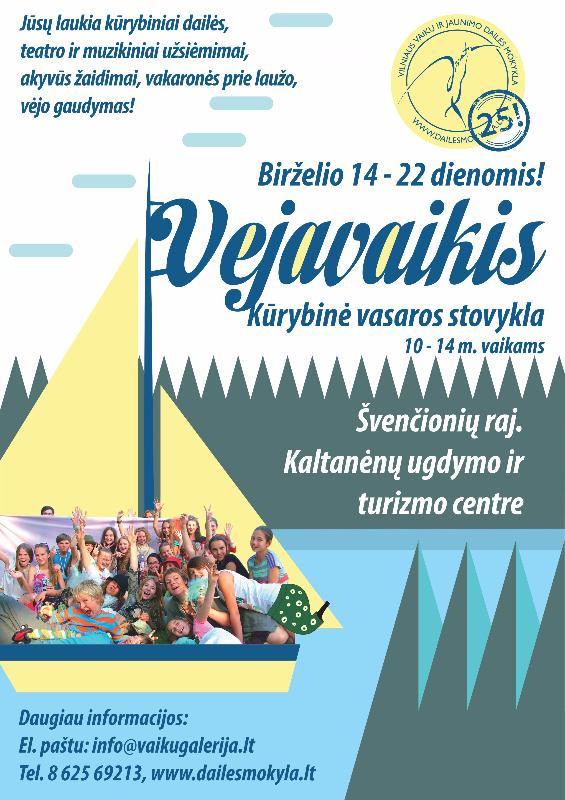 Vejavaikis– kūrybine vasaros stovykla - dailesmokykla.lt